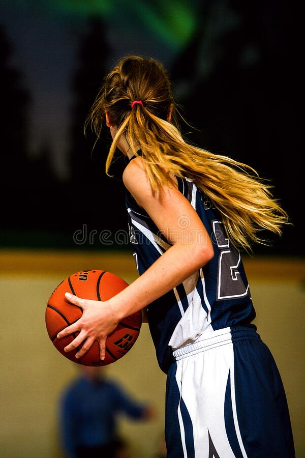Woman In Blue And White Basketball Jersey Holding Brown Basketball Free Public Domain Cc0 Image
