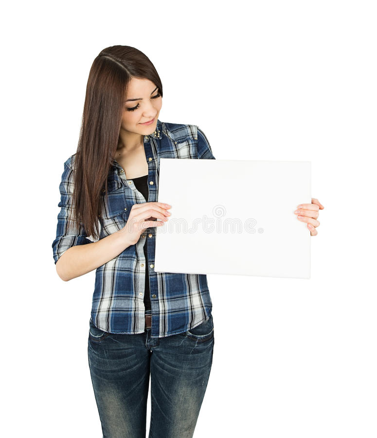 Woman board stock photography