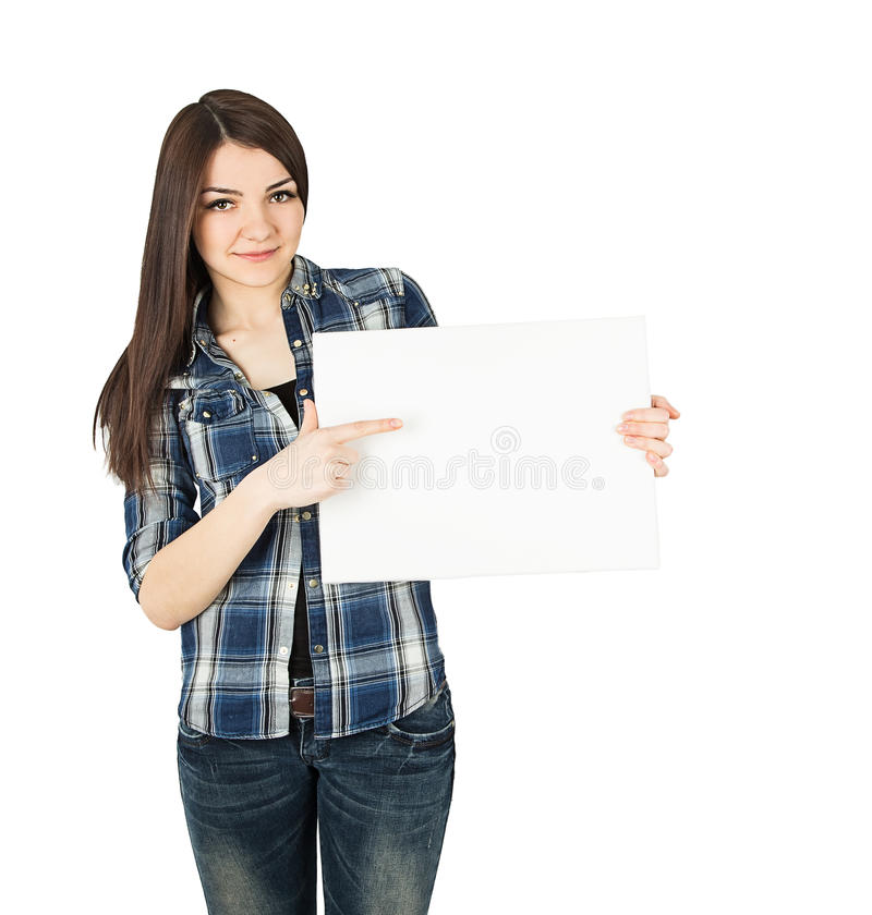 Woman board royalty free stock images