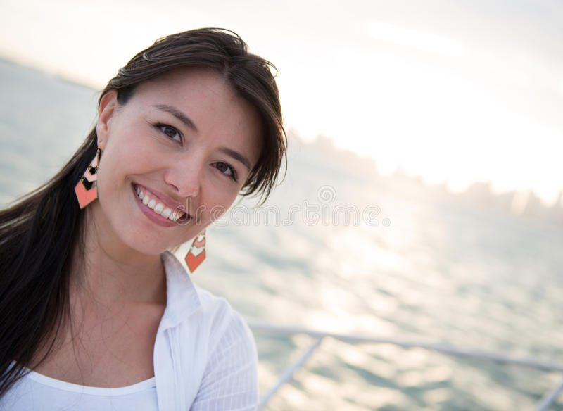 Download Woman on a boat stock photo. Image of holidays, boat - 30506390