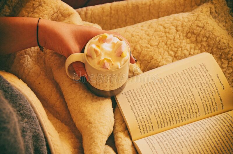 Woman With Book And Cocoa Free Public Domain Cc0 Image