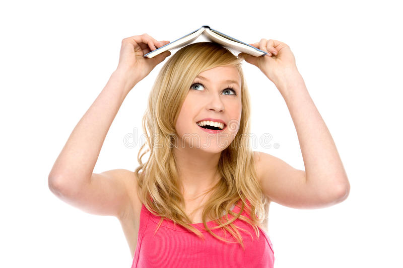 Download Woman With Book On Her Head Stock Photo - Image: 20384230