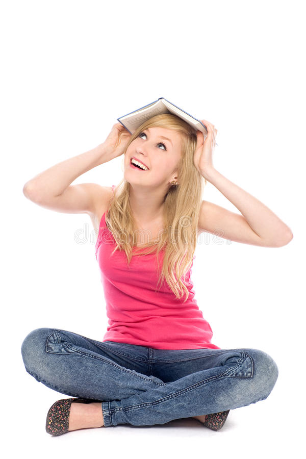 Download Woman With Book On Her Head Stock Photo - Image: 20384538