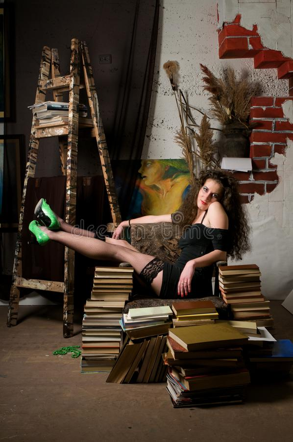 Download Woman and books stock image. Image of images, girl, books - 13758729
