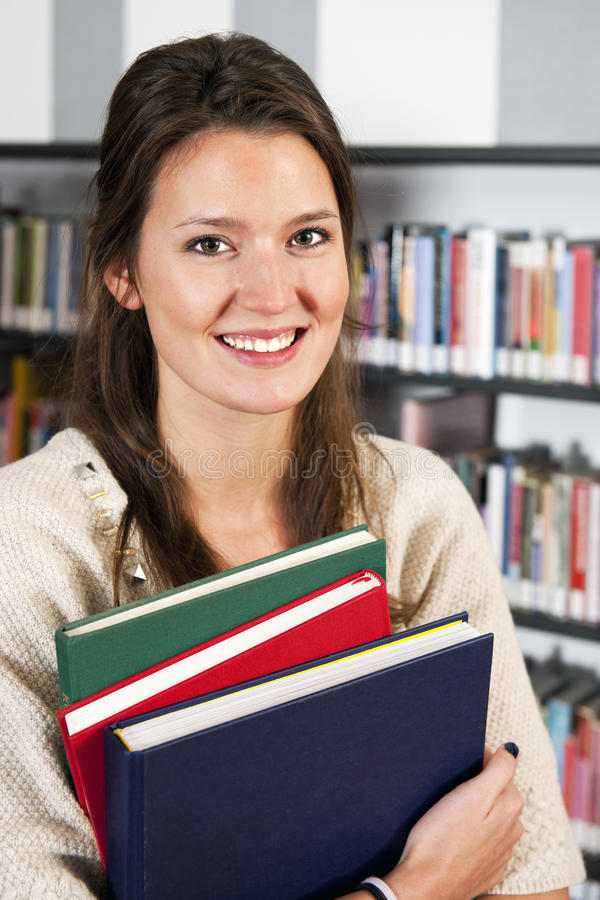 Download Woman with books stock image. Image of stack, eyes, thick - 22042845