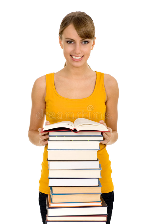 Download Woman With Books Royalty Free Stock Photography - Image: 7173447