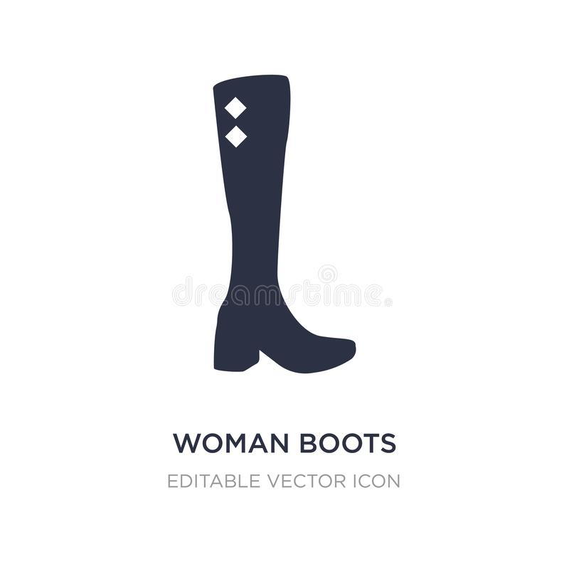 woman boots icon on white background. Simple element illustration from Fashion concept vector illustration