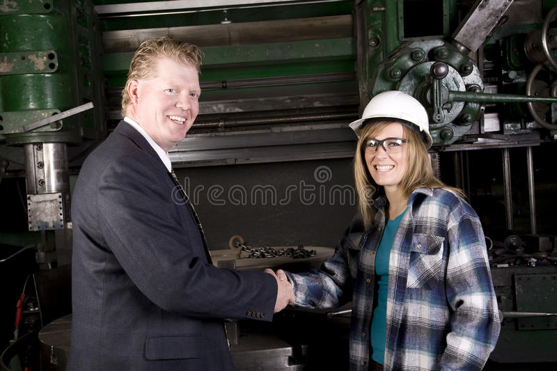 Woman boss happy stock images