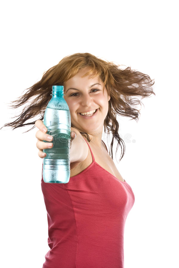 Download Woman with bottle of water stock image. Image of clean - 15441479