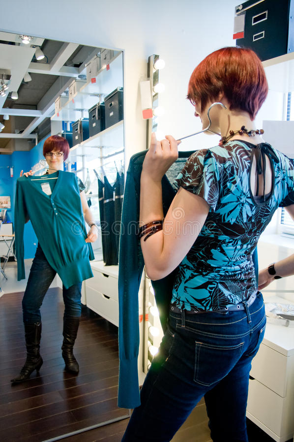 Woman in Boutique