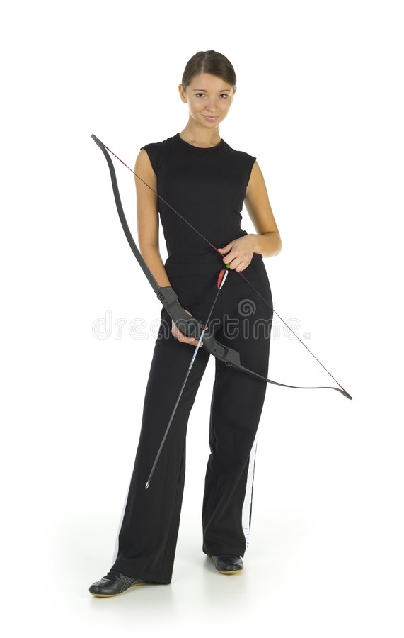 Woman with bow royalty free stock image
