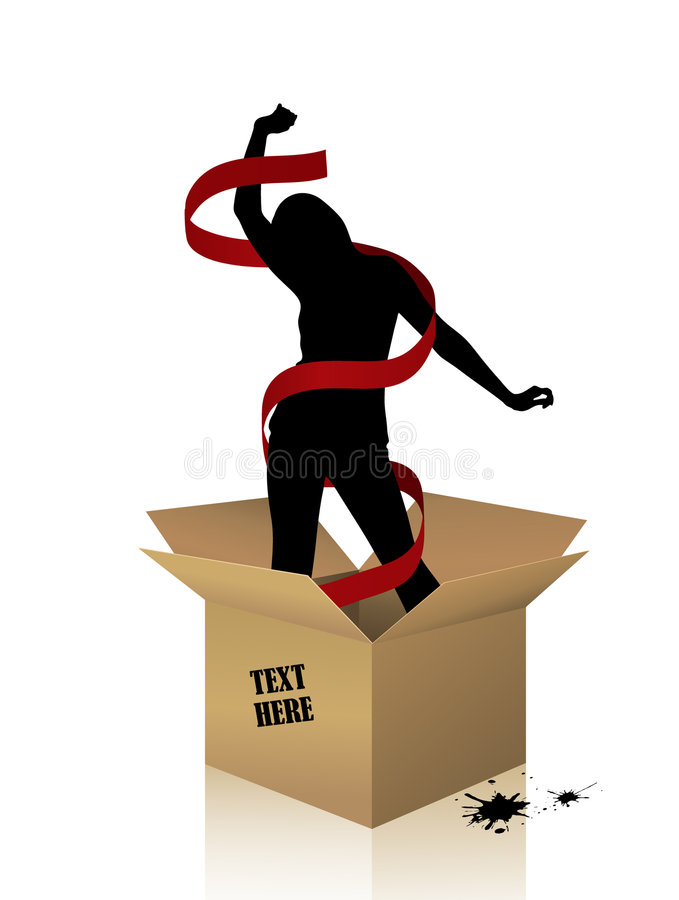 Download Woman in a box stock vector. Illustration of design, illustration - 9205932