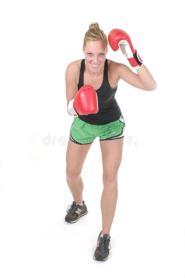 Woman Boxer 4 royalty free stock images