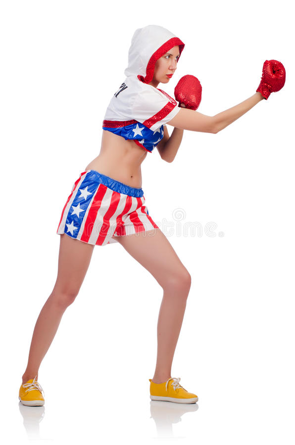 Download Woman boxer stock photo. Image of glove, boxing, exercise - 34469024
