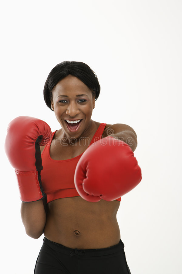 Free Woman Boxer Punching. Stock Photography - 2678902