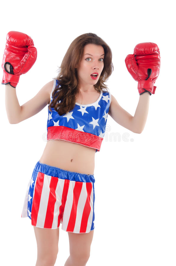Download Woman boxer stock photo. Image of competition, election - 34468824