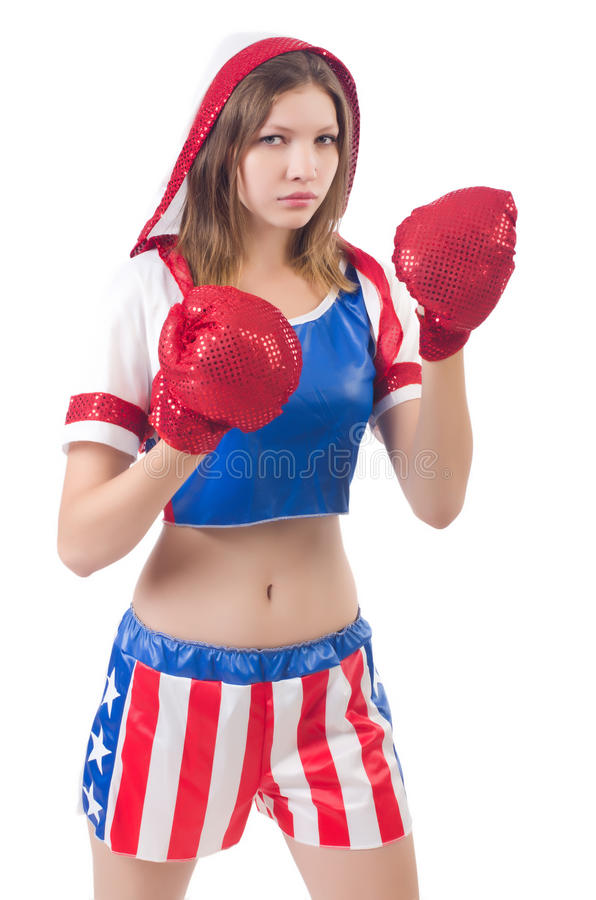 Download Woman boxer stock photo. Image of boxing, body, fight - 34468892