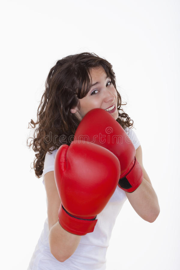 Download Woman with boxing gloves stock image. Image of strong - 10010639