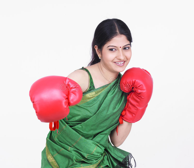 Download Woman with boxing gloves stock image. Image of boxer, beauty - 7387211