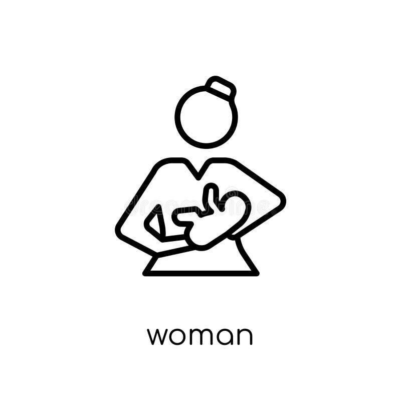 Woman Breastfeeding icon. Trendy modern flat linear vector Woman vector illustration