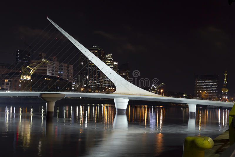 The woman bridge. Buenos Aires, Argentina. Puerto Madero by nigh stock photography