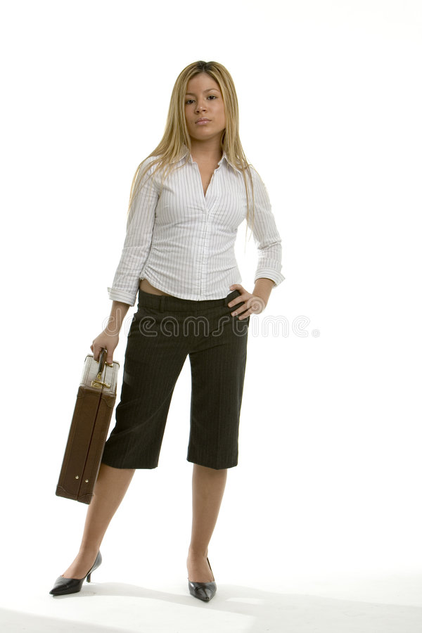 Woman with a brief case royalty free stock images