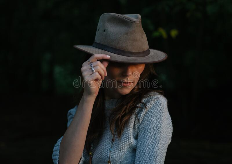 Woman In Brown Fedora Hat Free Public Domain Cc0 Image