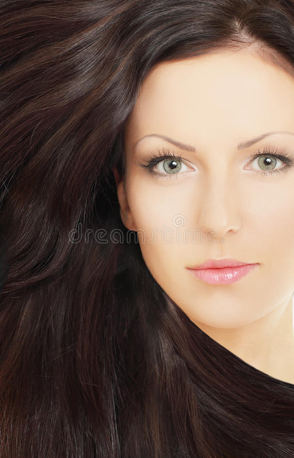 Woman With Brown Hair Stock Photos