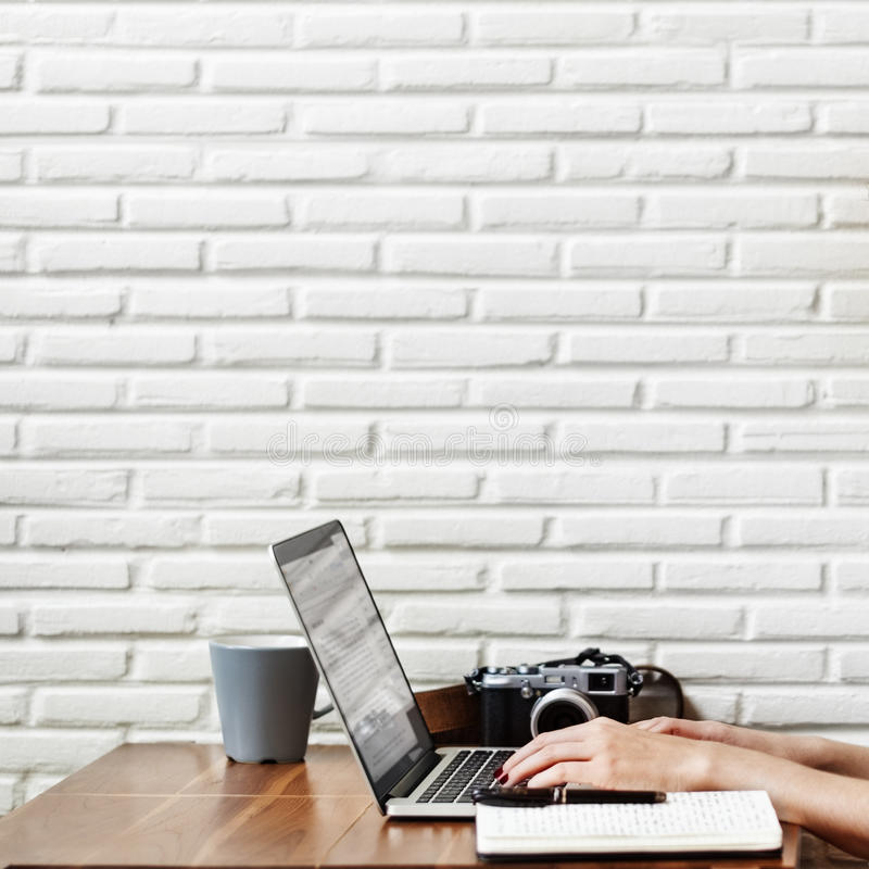 Woman Browsing Searching Working Typing Concept royalty free stock images