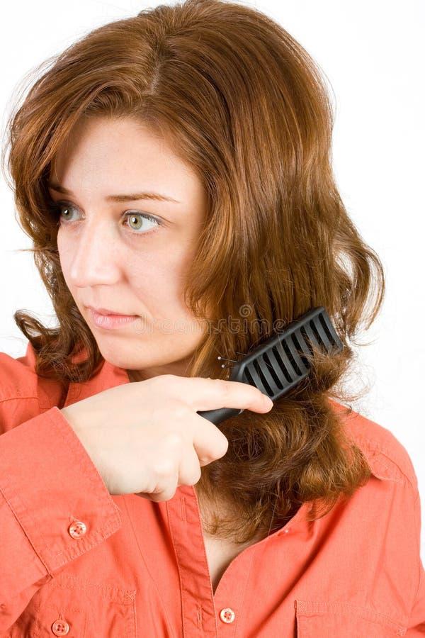 Download Woman Brushing Her Hair Stock Image - Image: 7112251