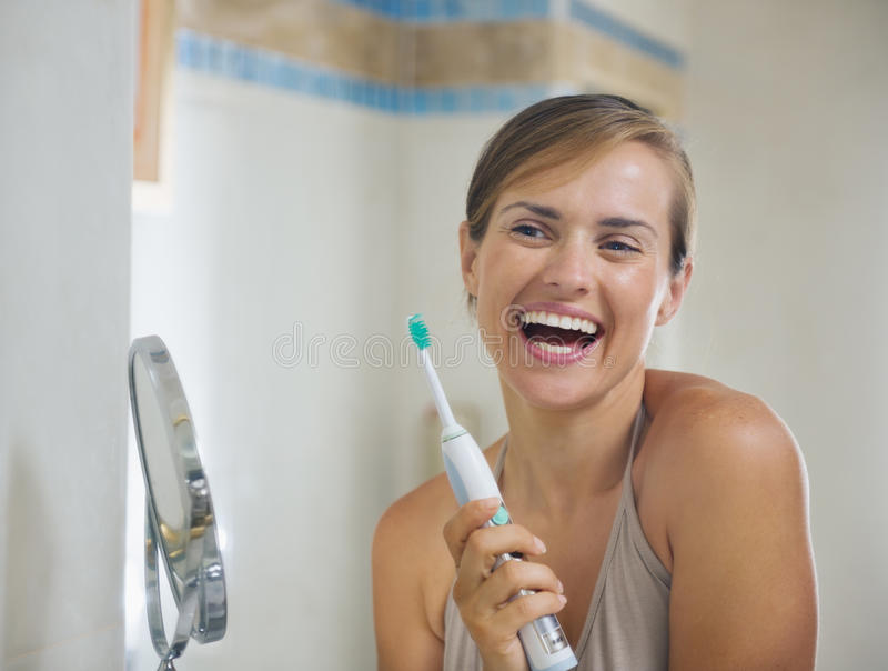 Download Woman After Brushing Teeth With Toothbrush Stock Image - Image: 26999983