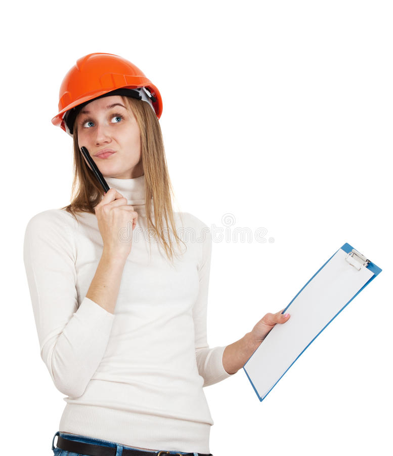 Woman builder stock images