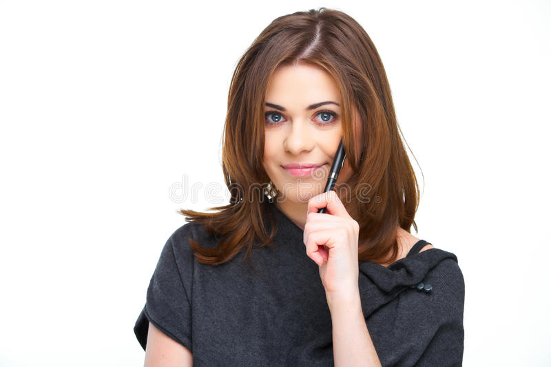 Woman business style portrait royalty free stock photo