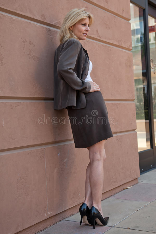 Woman In Business Suit Stock Photos