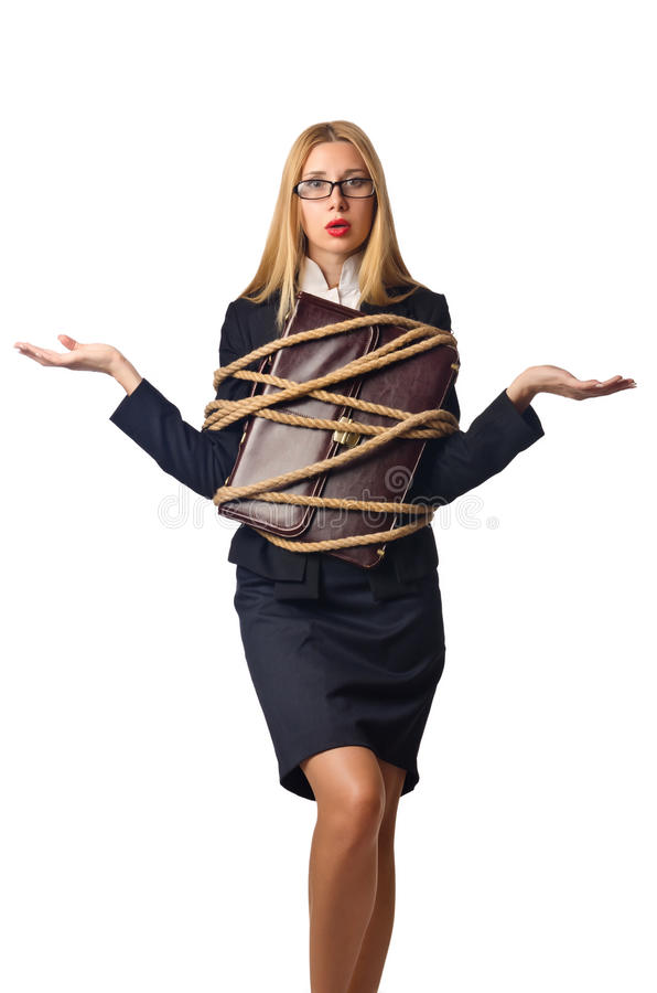 Download Woman businessman tied up stock image. Image of business - 27170097