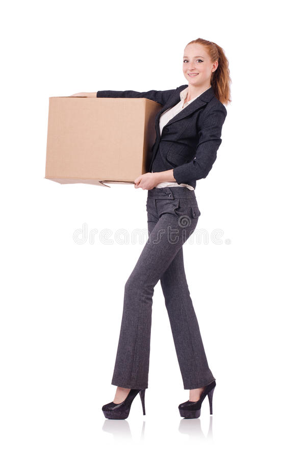 Download Woman businesswoman stock image. Image of package, holding - 36978187