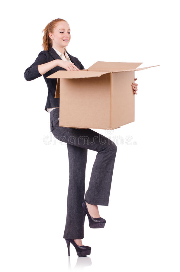 Download Woman businesswoman stock photo. Image of shipment, moving - 36978198