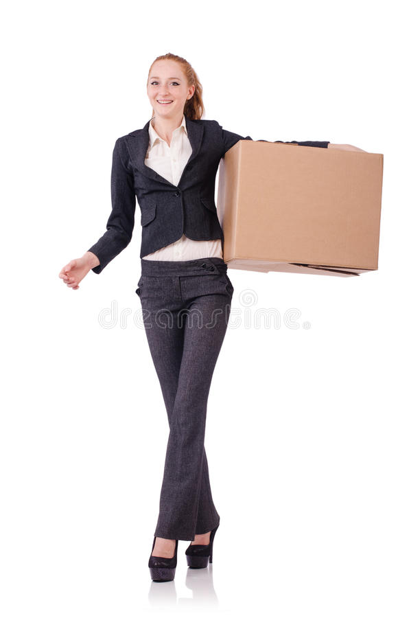 Download Woman businesswoman stock photo. Image of brown, shipping - 36978228