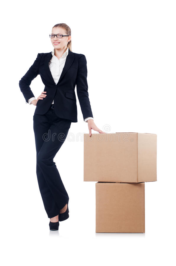 Download Woman businesswoman stock image. Image of cargo, holding - 36986663