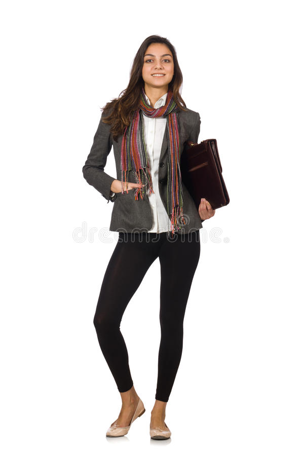 Woman businesswoman in business concept. Female businessfemale in business concept stock photo