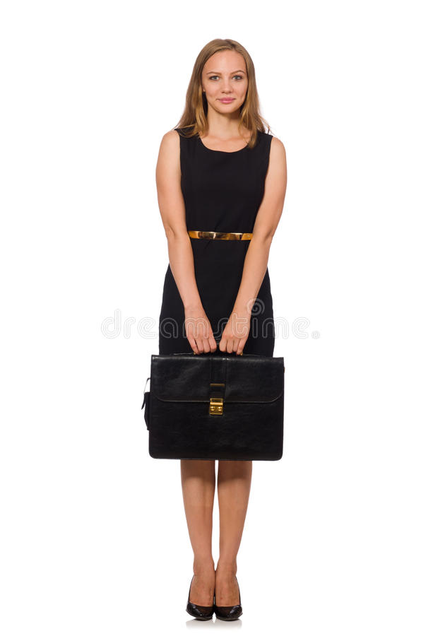 The woman businesswoman concept isolated white background. Woman businesswoman concept isolated white background stock image