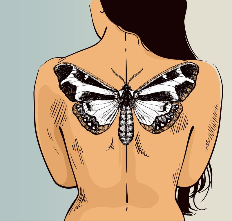 Butterfly Illustration Vector Tattoo Butterfly Symbol Of