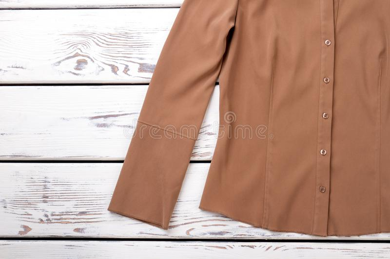Woman buttoned formal style blouse. royalty free stock photography