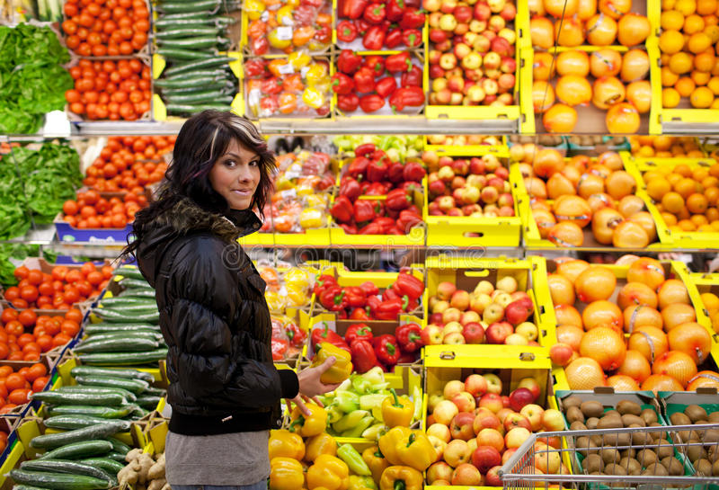 Download Woman Buying Fruits And Vegetables Stock Photo - Image: 17653068