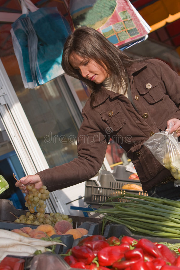 Download Woman buying grapes stock image. Image of urban, customer - 3542243