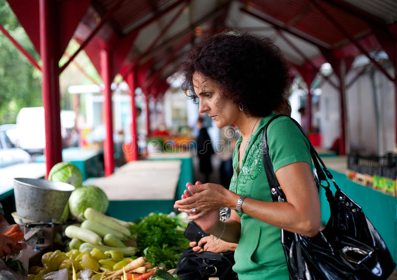 Download Woman buying vegetables stock image. Image of freshness - 15397401