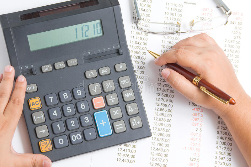 Download Woman with a calculator stock photo. Image of work, calculation - 21260138