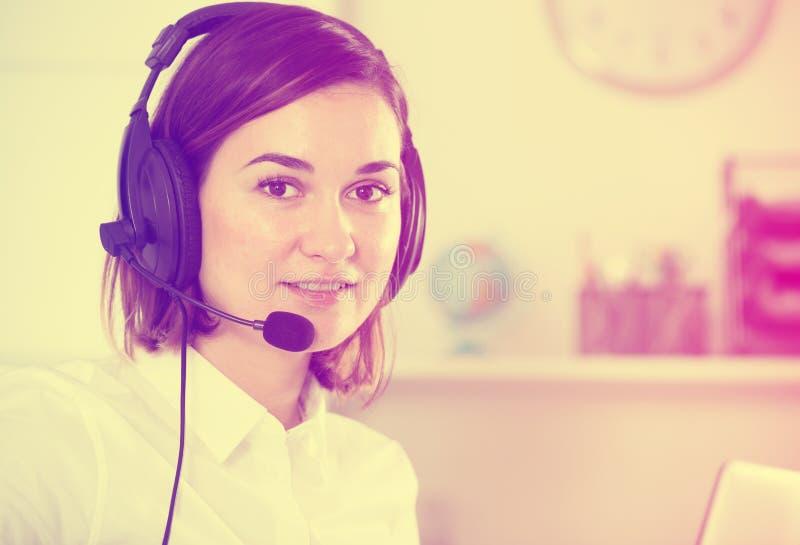 Woman in call-centre stock photos