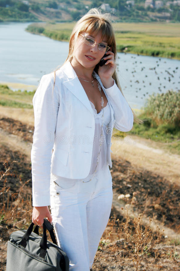 Download Woman Calling By Mobile Phone Stock Photo - Image: 12926032