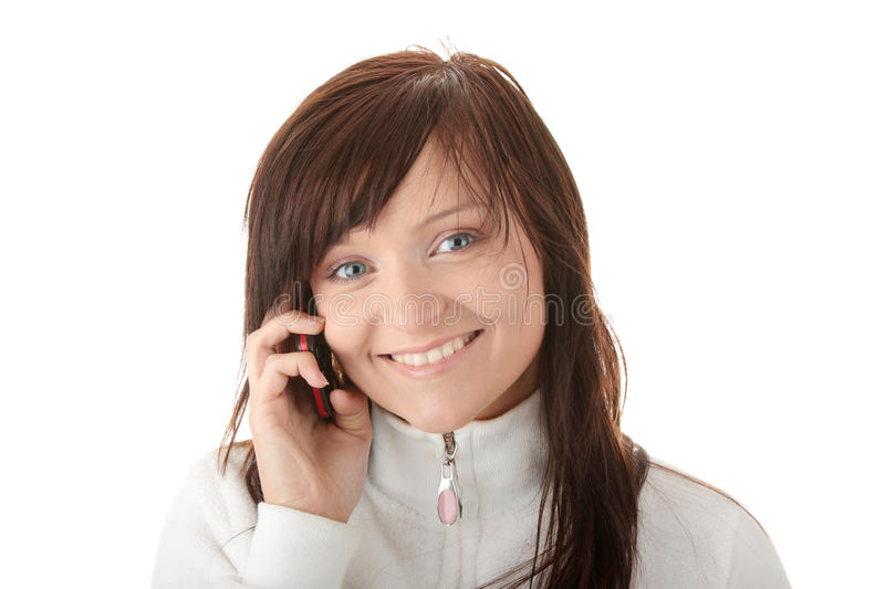 Download Woman Is Calling With A Mobilephone Stock Image - Image of mobilephone, communication: 11460649